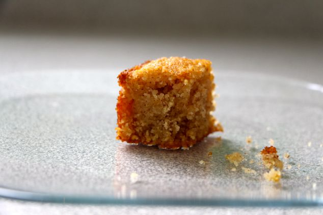 semolina cake piece