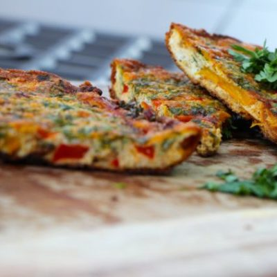 Sunday Morning Frittata – A Story of a Wrinkled Red Pepper