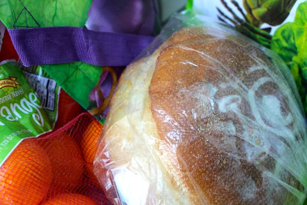 food shopping and bread