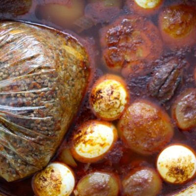 Hamin (Shabbat T'fina) – Slow Cooked Stew with Wheat Berries Dish (in a cooking bag)