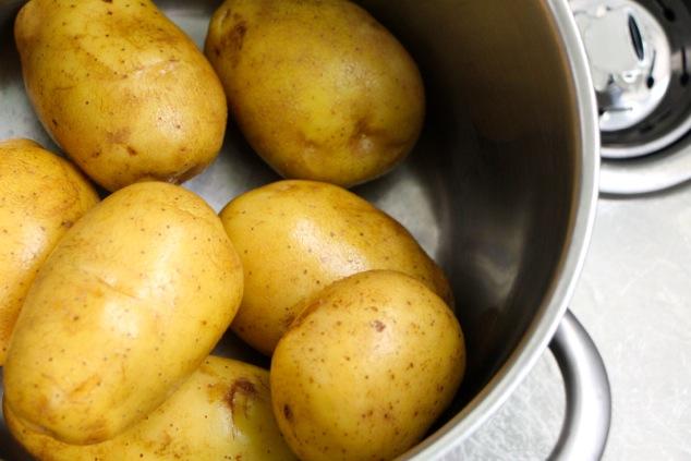 potatoes in pot