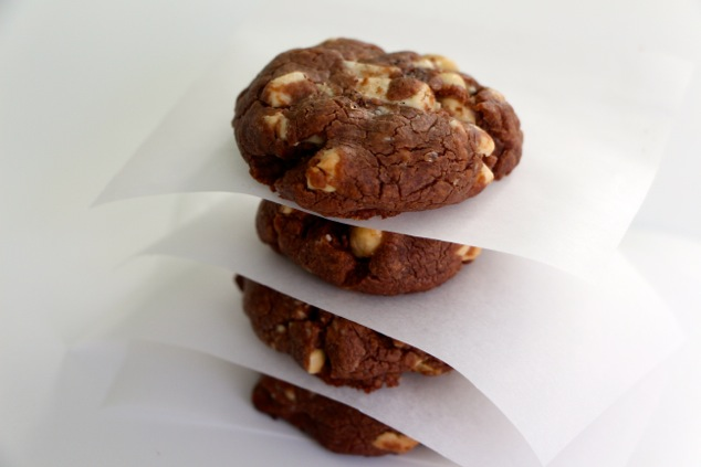 Nutella cookies stack side