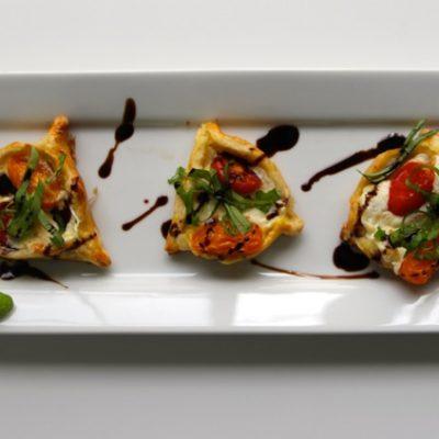 Tomato-Mozzarella-Basil Puff Pastry Hamentashen