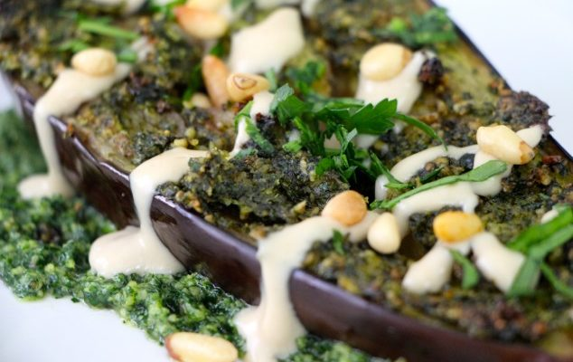 Roasted Eggplant with Parsley Pesto and Tehina – the Story Continues…