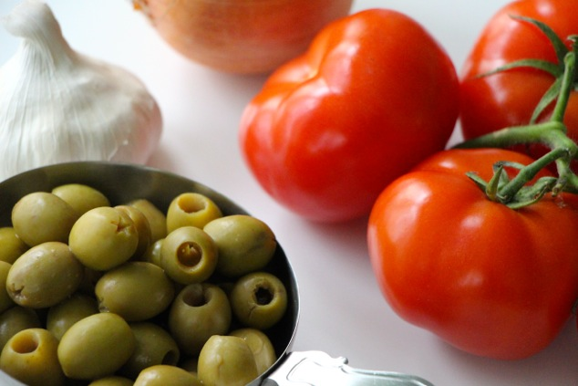 tomatoes and green olives