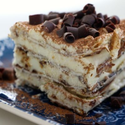 Tiramisu Matzah Cake with Caramelized Pecans – Passover Heaven