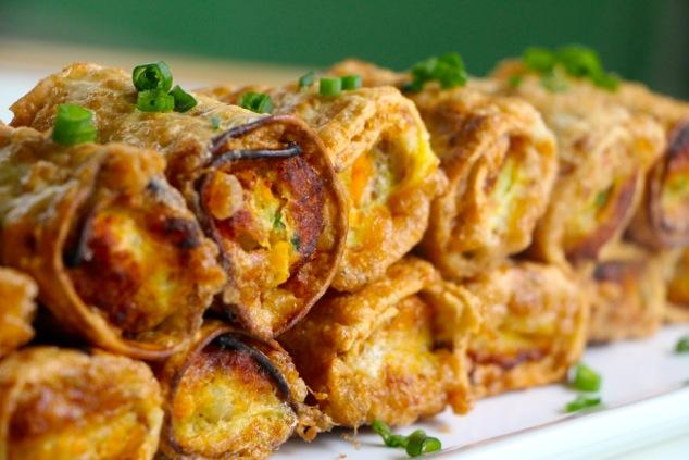 matzah eggrolls served