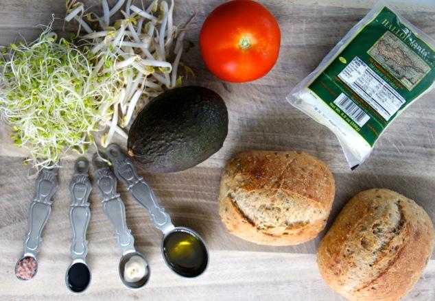 halloumi cheese sandwich ingredients