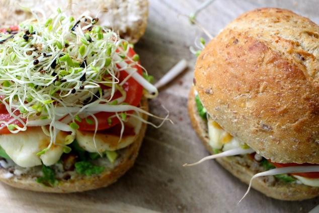 halloumi sandwich ready