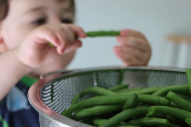 taking green bean
