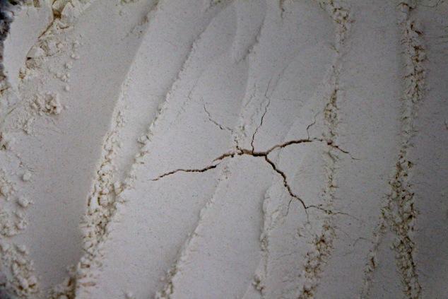 crack in the flour