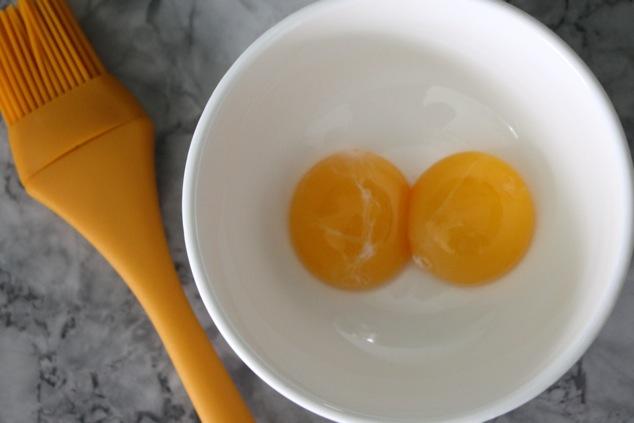 egg yolks and baking brush