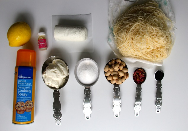 Knafeh ingredients