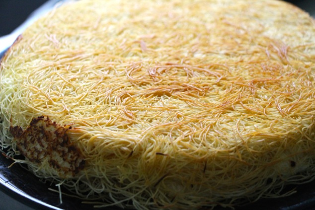 Knafeh one side up close