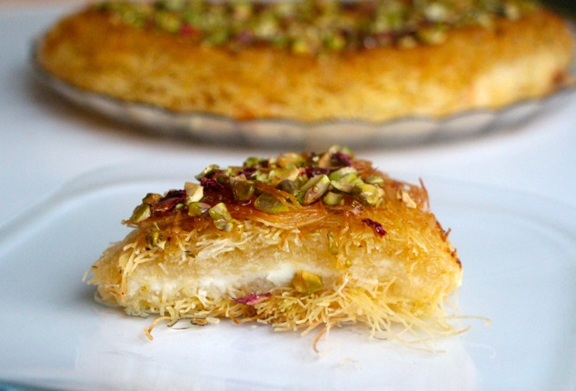a piece of Knafeh