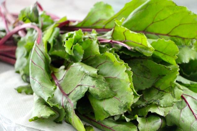 beet green leaves