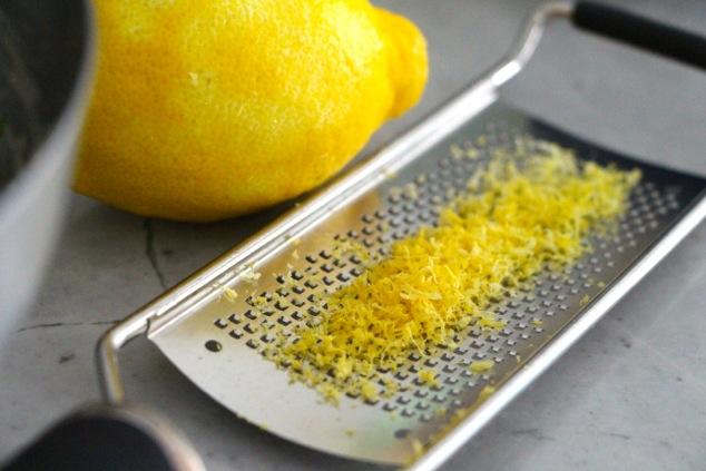 Lemon zest up close