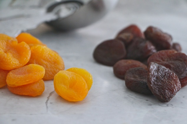 dried apricots close up