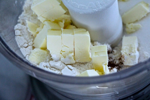 butter flour and sugar in food processor