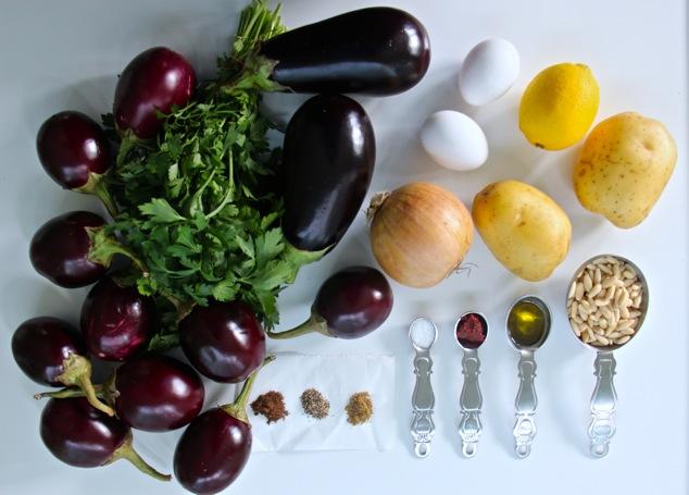 Tunisian stuffed eggpalnts ingredients