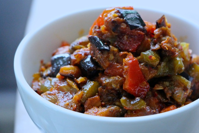 Ajloog – Tunisian Eggplant & Roasted Peppers Salad