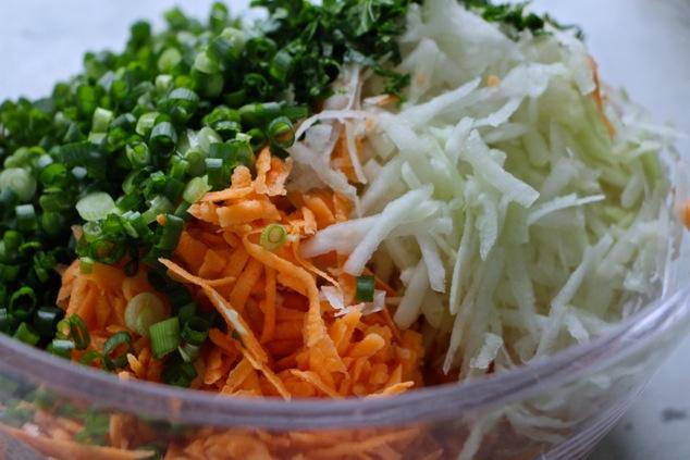 latkes ingredients in bowl