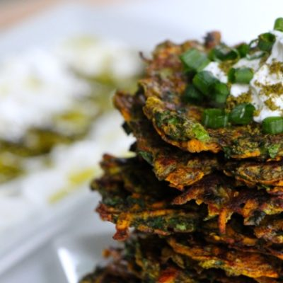 Sweet Potato-Kohlrabi Latkes Thinies