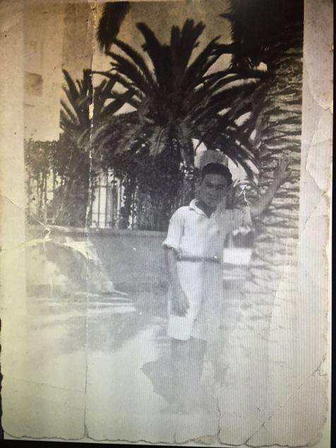 Saba as a young man in Bizerte