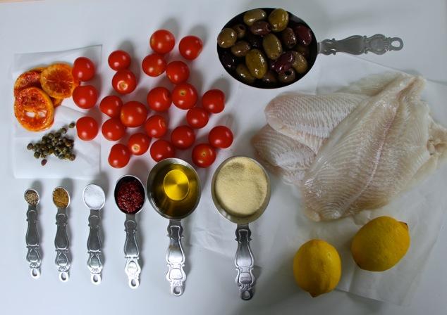 Tunisian Fried Fish ingredients