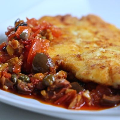 Hoot Mukli – Tunisian Fried Fish with Olives, Preserved Lemons & Harissa Tapenade – Flavors that Bring Up Memories