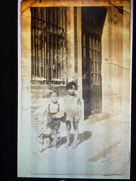 old photo of Savta as a girl in Bizerte