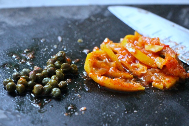preserved lemons and capers