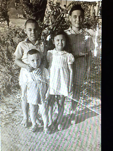 the family as kids in Israel