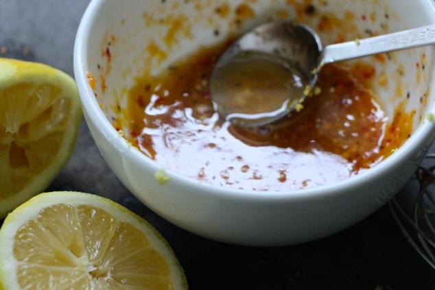 lemon and salad dressing