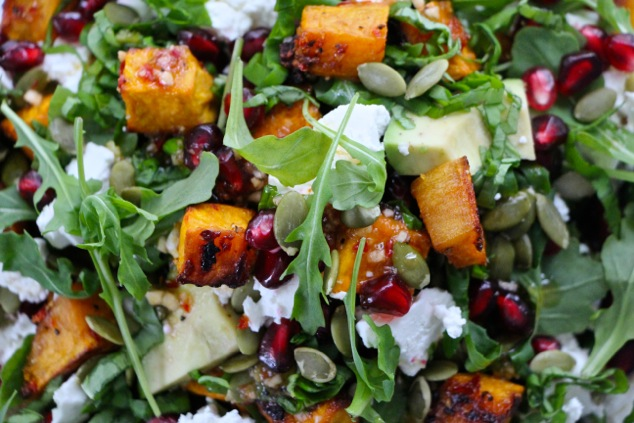 salad ready up close